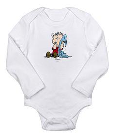 Cute 'Linus with Blanket' Baby Onesie.