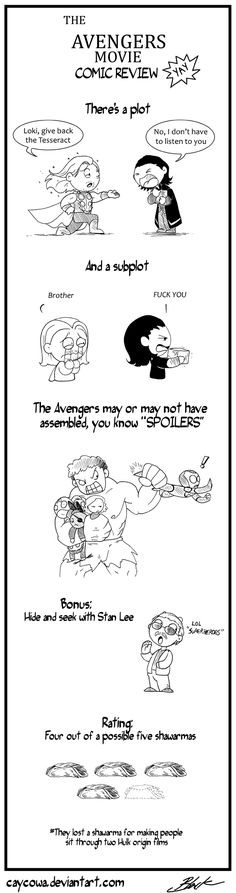The Avenger movie review comic yay by caycowa.deviantart.com on @deviantART