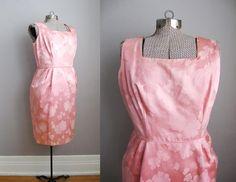 1950s Dress Vintage Cocktail Dress Pink 50s by SoubretteVintage, $45.00
