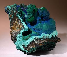 Azurite on Malachite // Morenci Mine, Greenlee County, Arizon, USA
