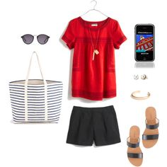 Tourist in Your Own Town by bluehydrangea on Polyvore featuring Madewell, J.Crew, BAGGU, Stella & Dot and Guide London
