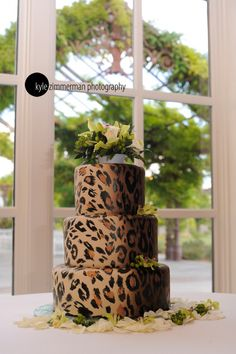 Kyle Zimmerman is known for contemporary wedding packages in Albuquerque, Santa Fe and all over the world. Leopard Print Wedding, Leopard Print Party, Leopard Prints, Cheetah Print Cakes, Leopard Cake, Fancy Cakes, Cute Cakes, Torta Animal Print, African Cake
