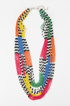 www.cewax.fr aime ce collier multi rang perles style ethnique tendance tribale beads and color