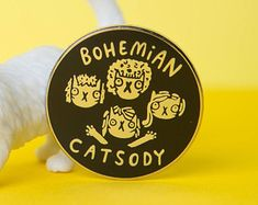 Bohemian Catsody - Hard Enamel Pin - Queen Band - Cat Pin