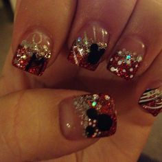 mickey minnie nails disney christmas - Disney Christmas Nails