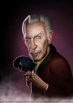 That character is based on Vincent Price, since Tim Burton and Price worked together at the beginning of his career. Description from seizuredemon.deviantart.com. I searched for this on bing.com/images
