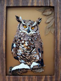 Wonderful Quilled Owl - by: Quilling Seasons-Maria Cvetanova