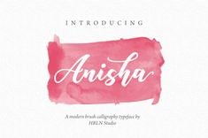 Anisha Script OFF) Fonts **Anisha Script** is a beautiful modern brush calligraphy font. Suitable for logotype design, quotes by HRLN Free Brush Script Font, Brush Font, Script Fonts, Calligraphy Fonts, Modern Calligraphy, Business Card Logo, Free Design, Hand Lettering, Behance