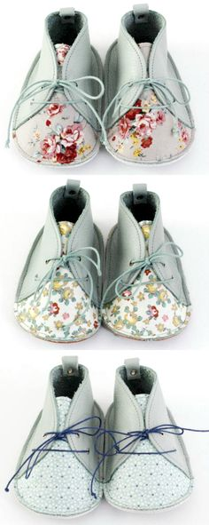 Handmade Leather & Floral Baby Shoes txelllagresa on Etsy Leather Gifts, Handmade Leather, Shoes Handmade, Recycled Leather, Handmade Ideas, Baby Carrier Jacket, Cool Baby Clothes, Handmade Baby Quilts, Leather Baby Shoes