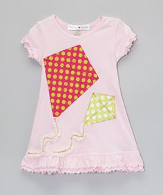 Another great find on #zulily! Light Pink Kite A-Line Dress - Infant, Toddler & Girls #zulilyfinds