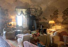 The salon at Palazzo Parisi. Photo courtesy of the villa's website.