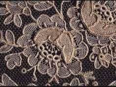 Regarded as the finest lace-making method, needle lace can achieve a delicacy and intricacy that machine-made or even bobbin-made lace cannot. An example of needlepoint lace (handwoven with a needle and thread) Needle Lace, Bobbin Lace, Needle And Thread, Antique Lace, Vintage Lace, Types Of Lace, Lacemaking, Point Lace, Linens And Lace