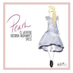 """Pearl is wearing #victoriabeckham  dress!  #fashion #fashcom #illustration #fashioncomic #comic #dress #shoes #heels #fashionart #fashionillustration…"""