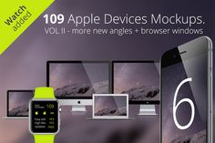 Check out 109 Apple Responsive Devices Vol 2 by RadekBroz on Creative Market