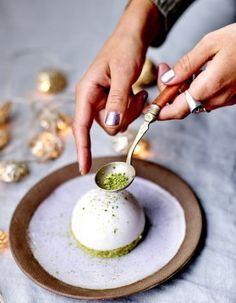 Financiers thé vert et dômes au yuzu