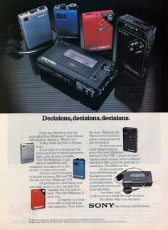 Walkman II in 1981 R2, came out in 1982 (the year this ad was published).
