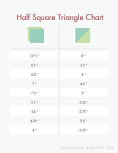 Half Square Triangle Chart