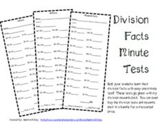 Multiplication and Division Timed Tests Bundle