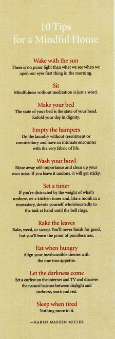 if i could get my life down to these ten simple things i would feel i was accomplishing daily success...