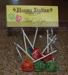 Honey Duke  Acid Pops Lollipops by DiagonAlley on Etsy, $5.00