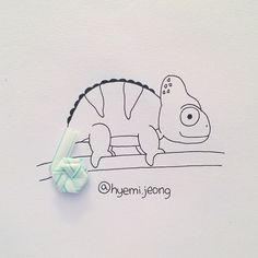 #straw #iguana #reptile #tail #drawing #art #sketch #illustration #빨대 #이구아나 #파충류 #꼬리 #손그림 #미술 #일러스트