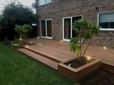 Astonishing Design Ideas for Modern Decks – Outdoor And Patio Ideas, Designs and DIY Plans. Backyard Patio Designs, Patio Ideas, Back Deck Ideas, Small Deck Designs, Small Backyard Decks, Decks And Porches, Small Patio, Back Garden Design, Terrace Design