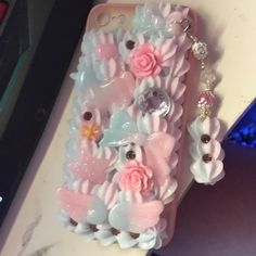 From hannahsdecoden on Etsy: Kawaii Decoden Cases & Accessories! Sparkly Phone Cases, Cool Iphone Cases, Cute Phone Cases, Decoden Phone Case, Kawaii Phone Case, Diy Phone Case, Friends Phone Case, Kawaii Hairstyles, Kawaii Accessories