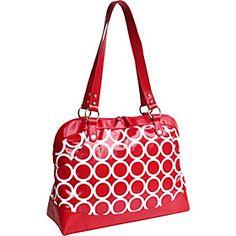 Kailo Chic Laptop Satchel - Red Circles - via eBags.com! #eBags and #ebagswishlist