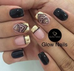 New fails design summer gel pedicures ideas Glow Nails, Matte Nails, Fun Nails, How To Do Nails, Gorgeous Nails, Pretty Nails, Mandala Nails, Tribal Nails, Nail Envy