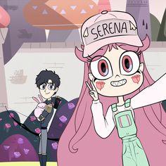 Serena que linda se ve (o^∀^o) Power Of Evil, Starco Comic, Desenhos Cartoon Network, Star Y Marco, Catty Noir, Star Force, Bff Drawings, Cartoon Kunst, Star Butterfly