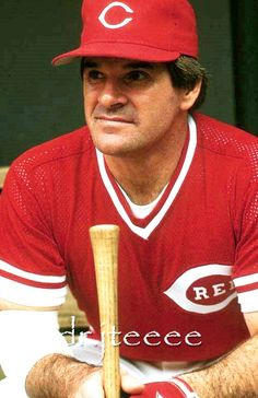 Pete Rose - Any true Cincinnatian knows just how great of a player he was. Baseball Players, Baseball Teams, Baseball Stuff, Mlb Reds, Baseball Classic, Johnny Bench, Cincinnati Reds Baseball, Pete Rose, Famous Sports