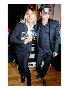 Johnny Depp with Iggy  Pop at the GQ Men Of The Year Awards 2014