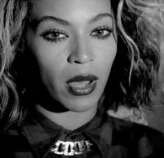 Beyonce, Flawless music video beauty look, Spider lashes, matte lip