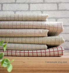 Plaid Beige Fabric, Beige Linen Cotton Fabric, Red Pink Green Blue Purple Plaid Fabric- Cushion Curtain Pillow Cover 1/2 yard by fabricmade on Etsy https://www.etsy.com/listing/93039751/plaid-beige-fabric-beige-linen-cotton