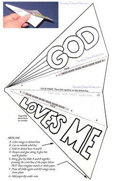 Paper airplane, God loves me