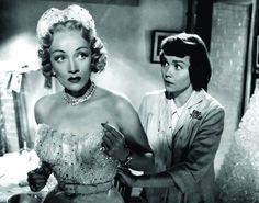Still of Marlene Dietrich and Jane Wyman in Stage Fright