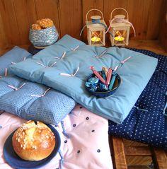 Coussins futon en tissus Frou-Frou pour l'Hiver