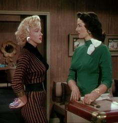 Gentlemen Prefer Blondes is a 1953 film starring Jane Russell and Marilyn Monroe. 1950's fashion