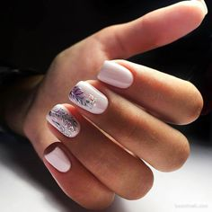 french nails ideas Sparkle in 2020 Shellac Nails, Nail Manicure, Glitter Nails, My Nails, Acrylic Nails, Pretty Nail Colors, Pretty Nails, Feather Nails, School Nails