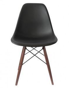 Replica Eames DSW Chair – Black/Walnut Stain