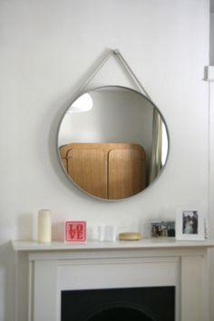 Hay Strap Mirror 70cm Vía http://thatdesignstore.co.uk/hay-strap-mirror.htm