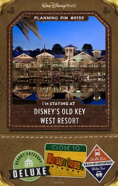 A peaceful tropical paradise, Disney's Old Key West Resort is just a boat ride away from the excitement of the Downtown Disney area.