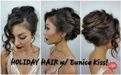 Create a pretty french twist for mid-length to long Hair. Stylist Jasmine Chang guides you step-by-step to achieving this amazing updo, perfect for holiday celebrations![Image and video courtesy of Jasmine Chang]