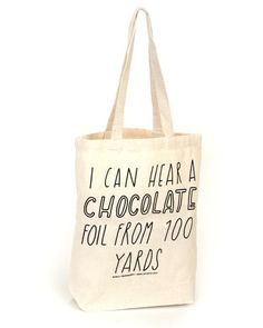 Chocolate Lover Tote Bag = aunt ellen