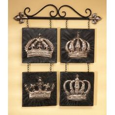 King And Queen Crown Wall Decor king and queen crowns from kirklands and ampersand from hobby