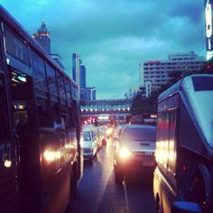 Traffic jam packed!