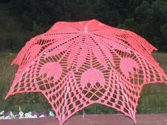 Crochê e tricô da Fri, Fri´s crochet and tricot Crochet Chart, Thread Crochet, Crochet Doilies, Crochet Flowers, Crochet Hooks, Crochet Patterns, Lace Umbrella, Lace Parasol, Irish Crochet