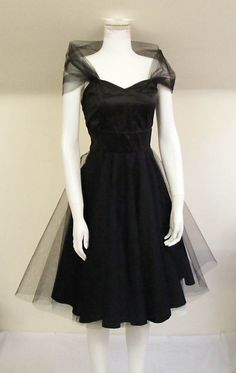 The Black Tulle Cocktail Dress by makemeadress on Etsy Bridesmaids? @rachelmke