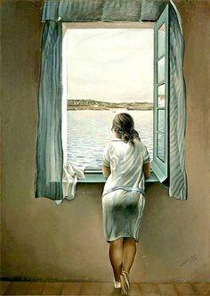 Woman at window. Dalí 1925