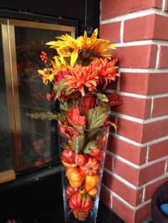 Fall vase filler: both from Michaels Fall Vase Filler, Vase Fillers, Holiday Ideas, Fall Decor, Thanksgiving, Wreaths, Decorating, Halloween, Decor